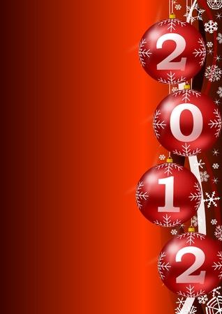 크리스마스 공 나이 2012 년 배경 스톡 사진
