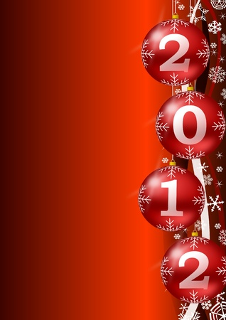ney year 2012 background with christmas balls photo