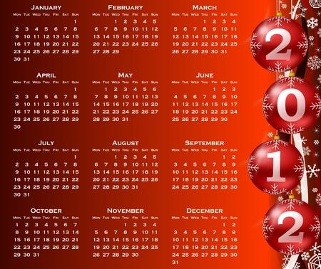 2012 year calendar photo