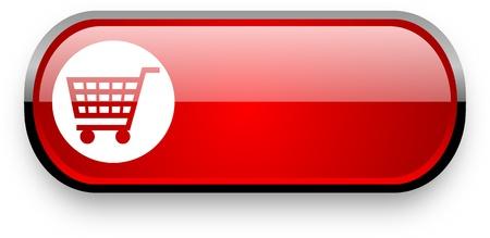 shopping web button Stock Photo - 11396642