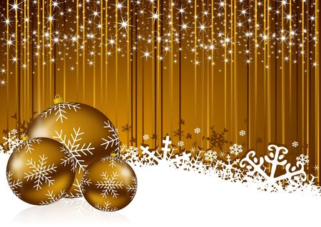 christmas background with snowflakes and christmas balls Stock Photo - 11396654