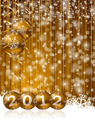 new year illustration with christmas balls Stock Illustration - 11396670