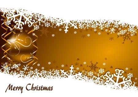 눈송이와 크리스마스 공 크리스마스 배경