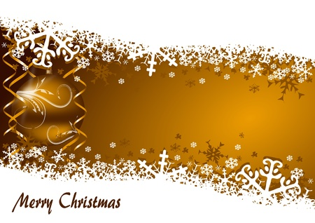 christmas background with snowflakes and christmas balls Stock Photo - 11396668