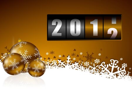 new year background with christmas balls and counter Stock Photo - 11396664