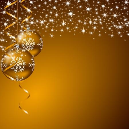 christmas background with stars and christmas balls Stock Photo - 11396663