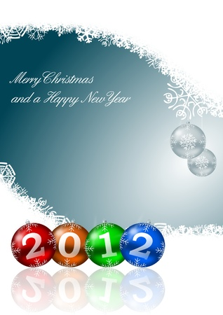 new year illustration with christmas balls Stock Illustration - 11396679