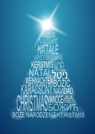 multilingual christmas background photo