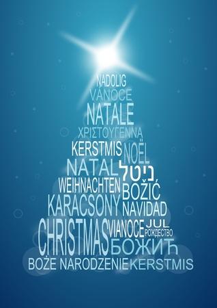 multilingual christmas background Stock Photo - 11396660