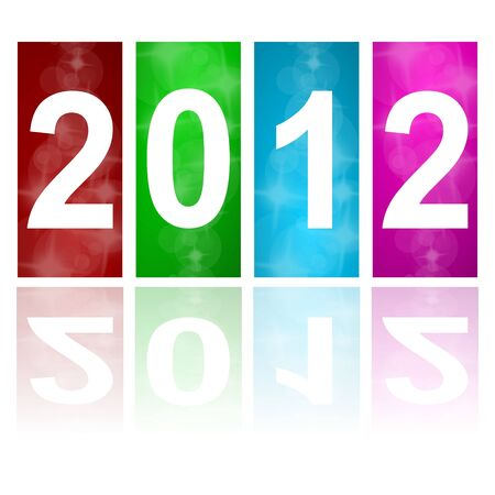 the turn of the year: 2012 new year abstract background