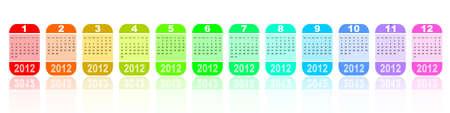 2012 colorful calendar Stock Photo