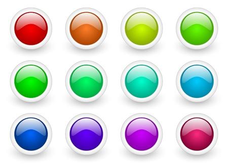 webtemplate: colorful buttons set Stock Photo