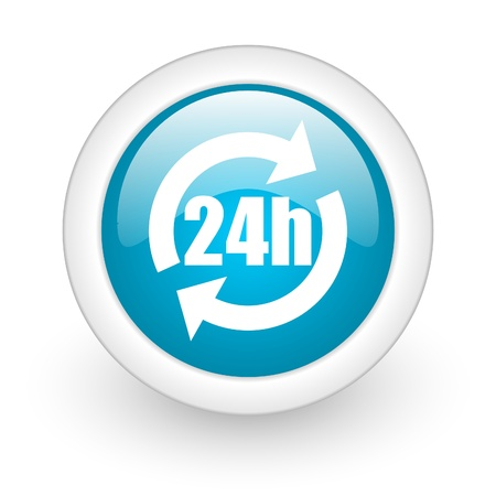 webtemplate: 24h web button Stock Photo