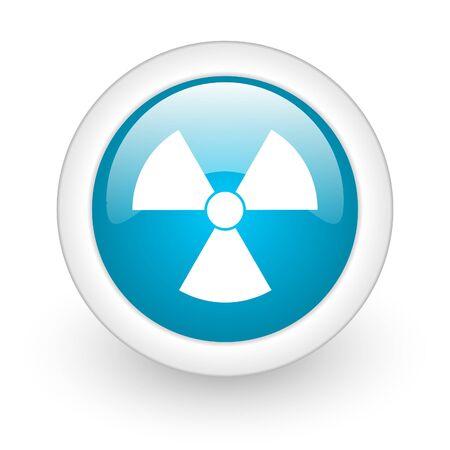 webtemplate: radiation web button Stock Photo