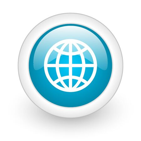 globe web button photo