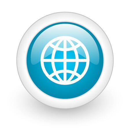 globe web button photo