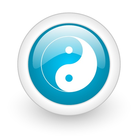 ying yang web button photo