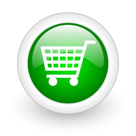 shopping cart web button Stock Photo - 11872090