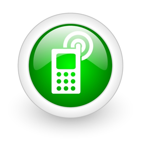 mobile phone web button Stock Photo - 11872108
