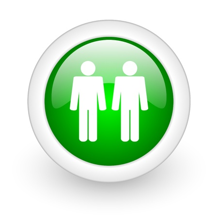 webtemplate: couple web button Stock Photo