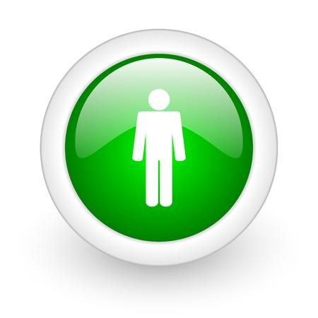 webtemplate: man wen button Stock Photo