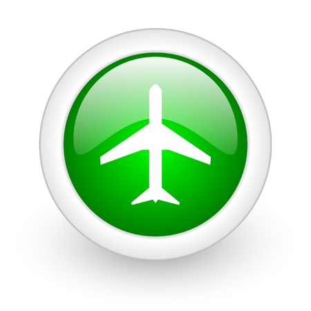 airplane web button photo