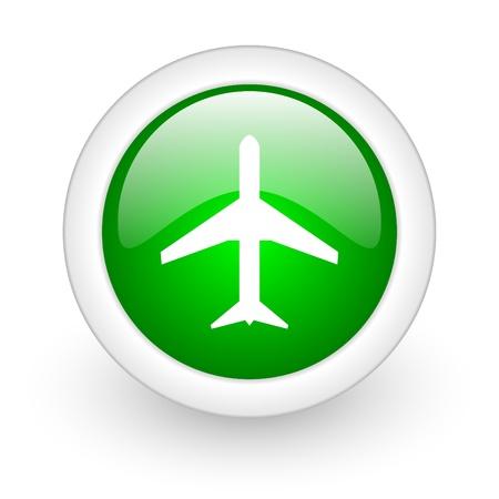 etiquette voyage: bouton web avion