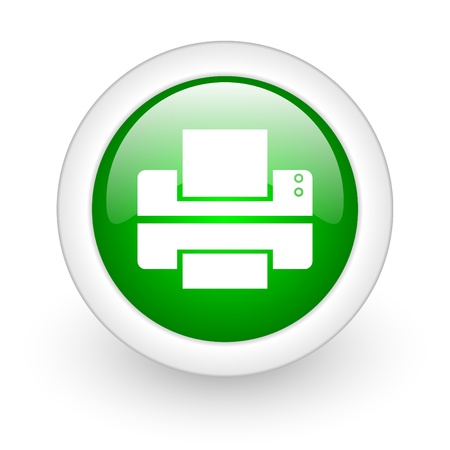 webtemplate: print web button Stock Photo