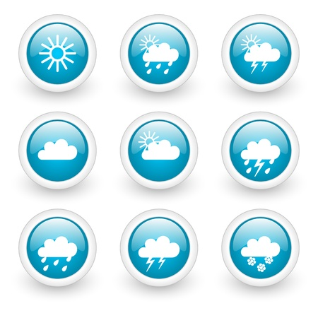 weather forecast web buttons Stock Photo - 11928994