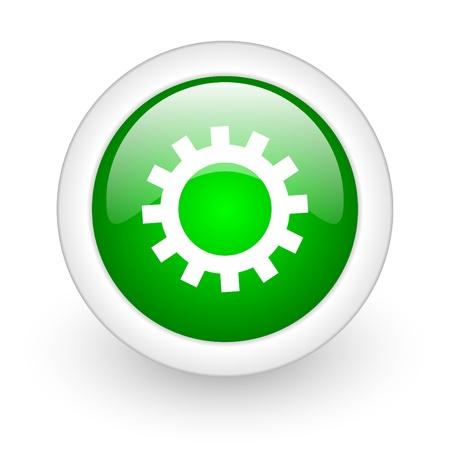 gears web button Stock Photo - 11928985