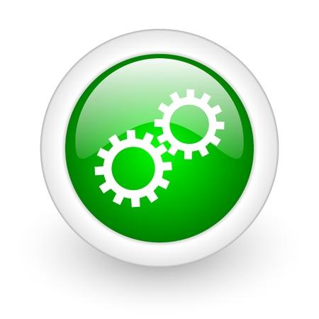 gears web button Stock Photo - 11928990