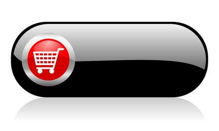 webtemplate: shopping cart button Stock Photo