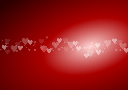 valentine background with hearts Stock Photo - 11967205