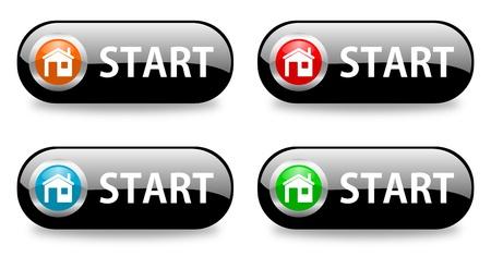 start glossy icon photo