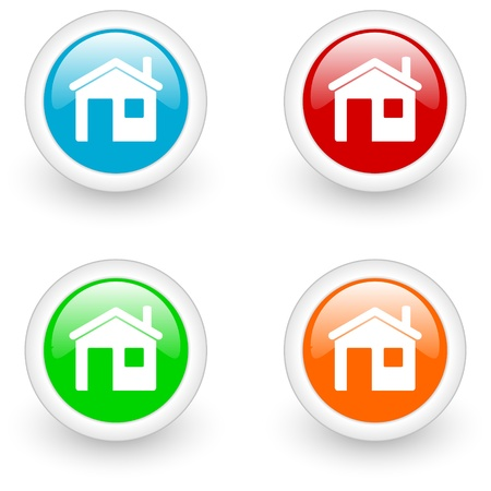 home glossy icon photo