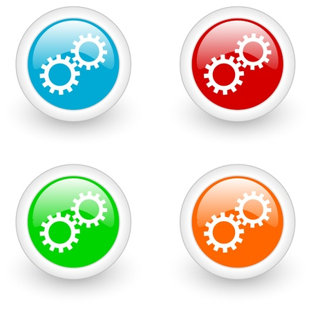 webtemplate: settings glossy icon Stock Photo