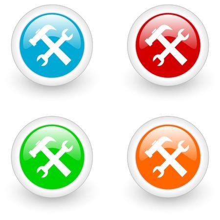 settings glossy icon Stock Photo - 12013285