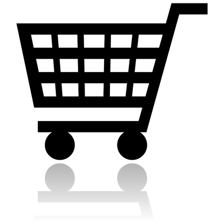 shopping cart icon photo