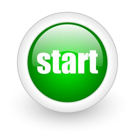 start icon Stock Photo - 12172952