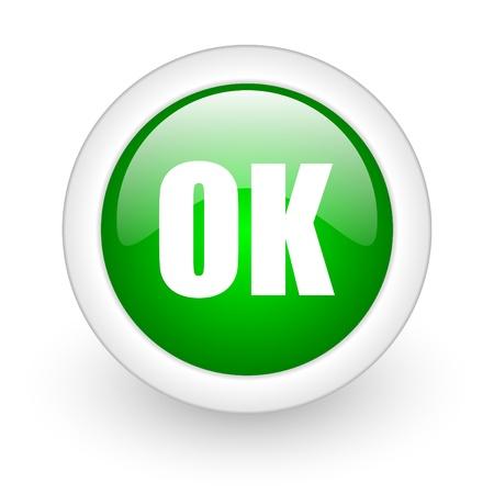 ok icon Stock Photo - 12172875