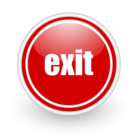 exit icon Stock Photo