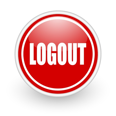 loguot icon Stock Photo