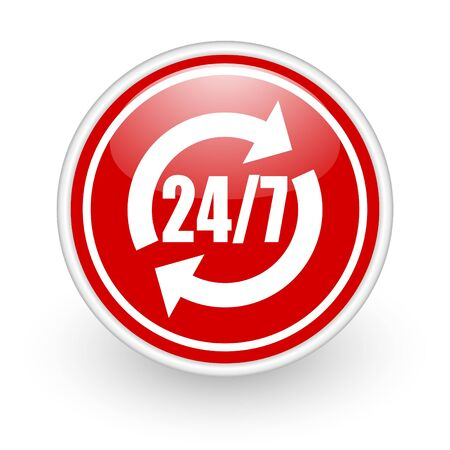 24 7 service icon Stock Photo - 12773709