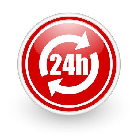24h: 24h service icon Stock Photo