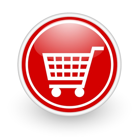 e commerce icon: shop icon Stock Photo