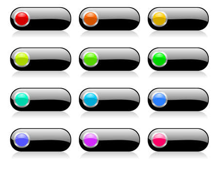 colorful web buttons set with shadows Stock Photo - 12773747