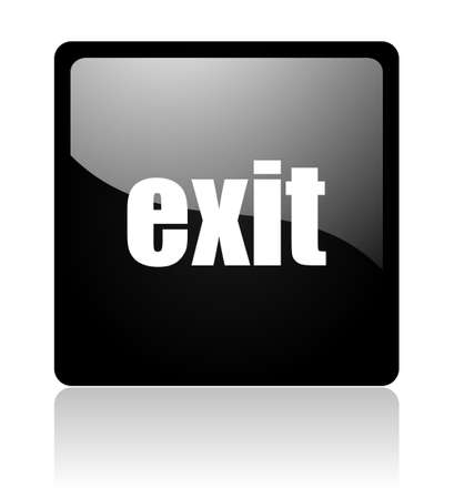 exit icon Stock Photo - 12965759