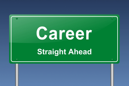 career development: career traffic sign Stock Photo