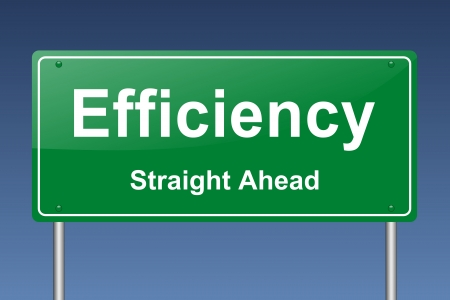succes: efficiency traffic sign