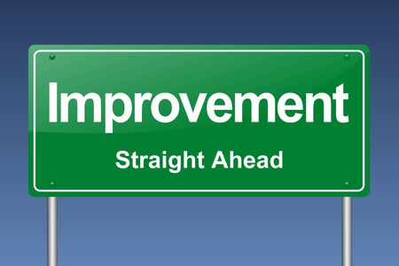 improvement: improvement traffic sign Stock Photo